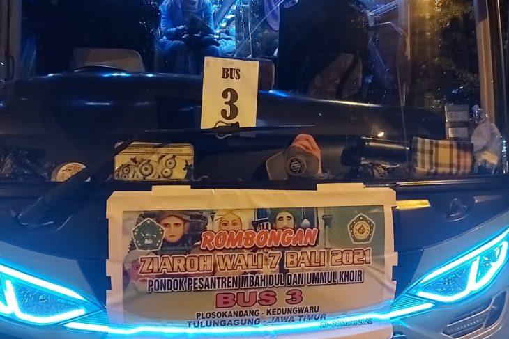 Menolak Rapid Antigen, Tiga Bus Rombongan Ziarah ke Denpasar Dipulangkan